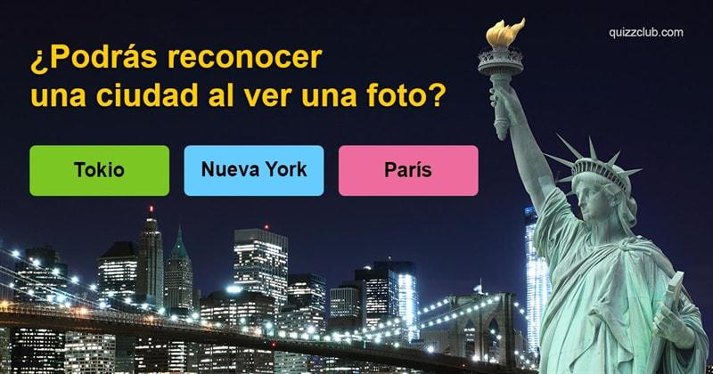 Geografía Quiz Test: ¿Podrás reconocer una ciudad alver una foto?