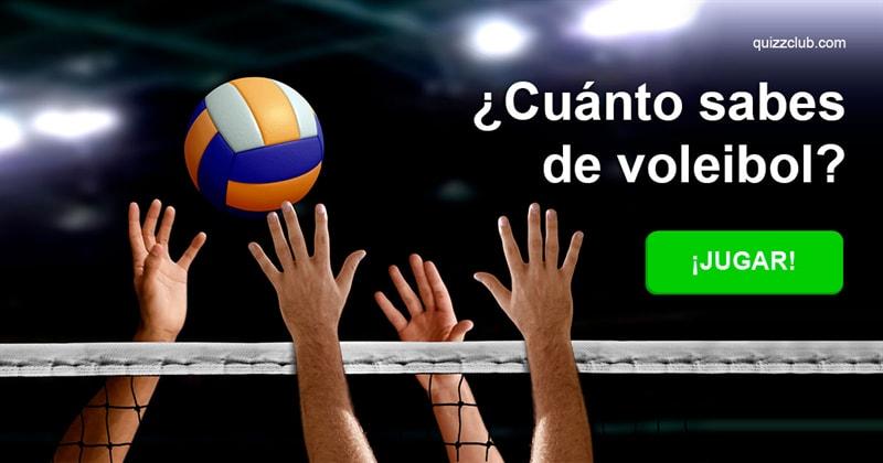 Deporte Quiz Test: ¿Cuánto sabes de voleibol?