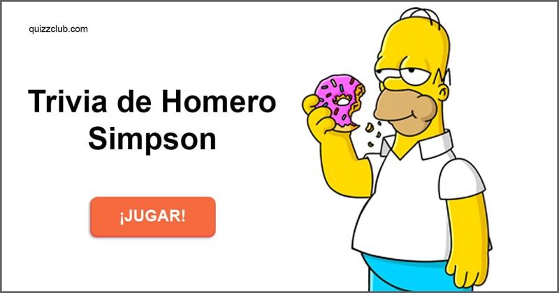 Películas Quiz Test: Trivia de Homero Simpson