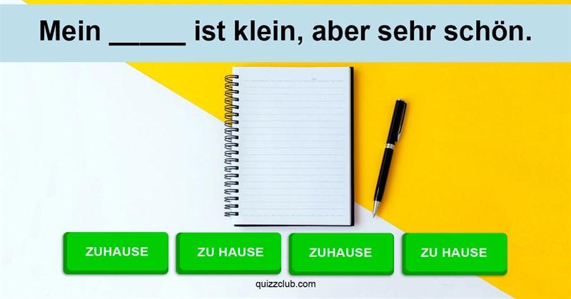 Sprache Quiz-Test: Deutsch-Quiz