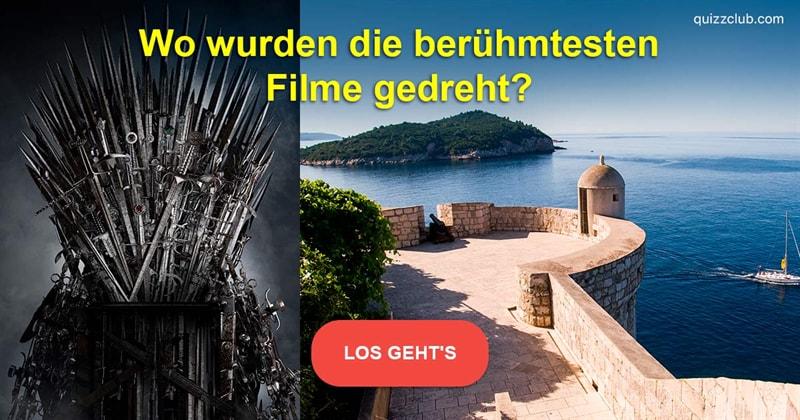 Film & Fernsehen Quiz-Test: Kennen Sie die Drehorte und Schauplätze dieser berühmten Filme?