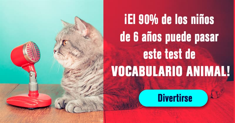 Naturaleza Quiz Test: ¡El 90% de los niños de 6 años puede pasar este test de vocabulario animal!