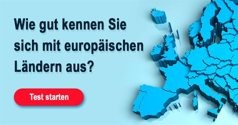 Geographie Quiz-Test: Erkennen Sie diese 13 europäischen Länder nur anhand ihres Umrisses?