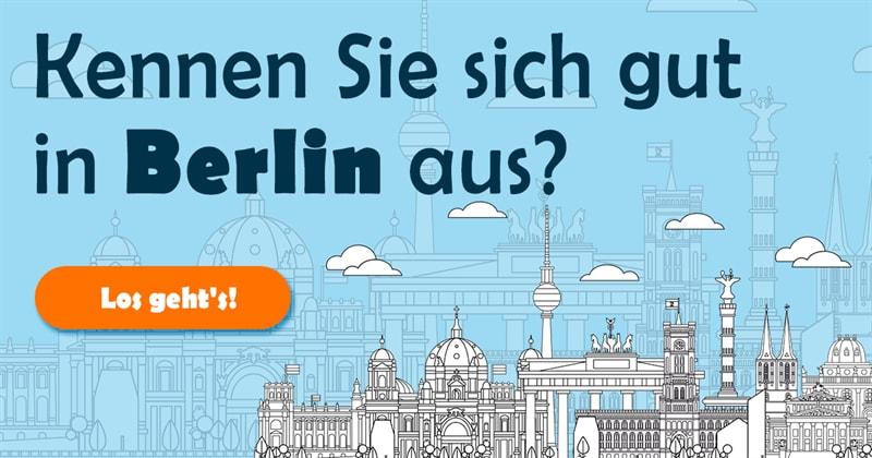 Geographie Quiz-Test: Großes Hauptstadt-Quiz! Wie viele dieser 20 Fragen über Berlin beantworten Sie richtig?