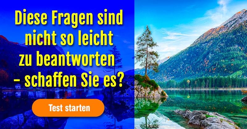 Geographie Quiz-Test: Wie gut kennen Sie sich in Deutschland aus?