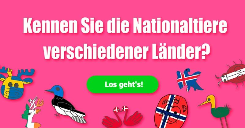 Gesellschaft Quiz-Test: Nationaltier-Quiz