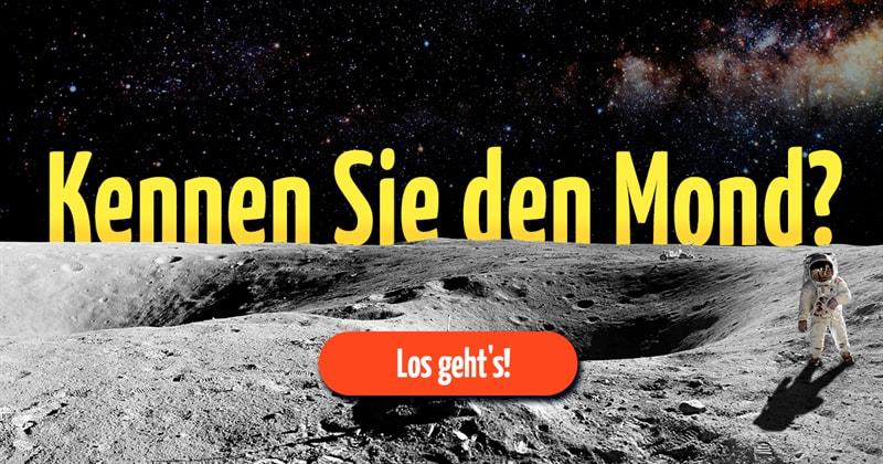 Wissenschaft Quiz-Test: Mond-Quiz