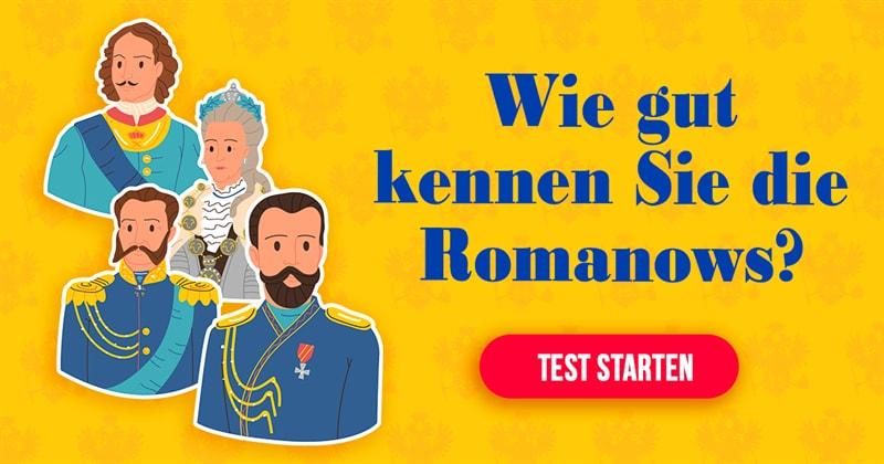Geschichte Quiz-Test: Romanows-Quiz