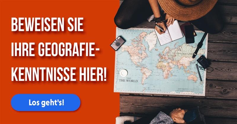 Geographie Quiz-Test: Welches Land liegt wo?
