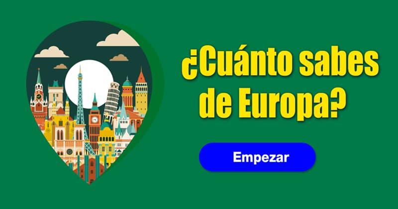 Geografía Quiz Test: ¿Cuánto sabes de Europa?