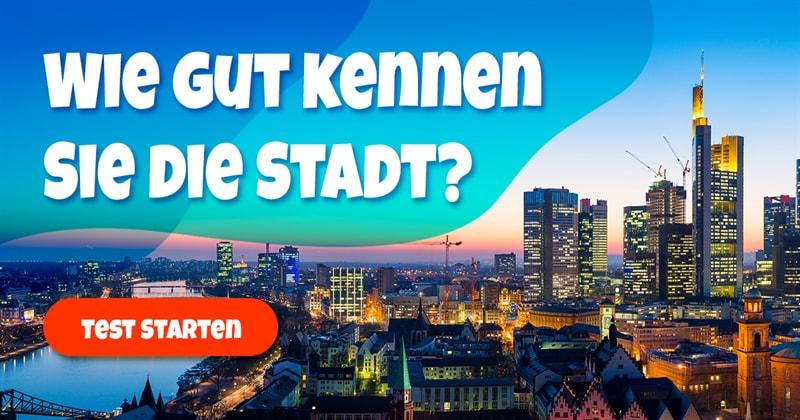 Geographie Quiz-Test: Frankfurt-Quiz