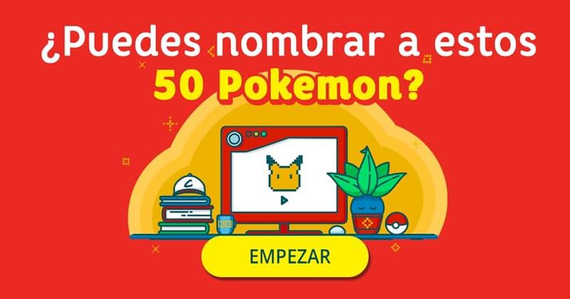 Películas Quiz Test: ¿Puedes nombrar a estos 50 Pokemon?