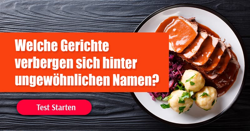 Kultur Quiz-Test: Deutsche Gerichte