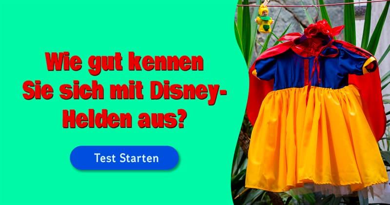 Kultur Quiz-Test: Erkennen Sie diese Disney-Figuren nur an ihrer Kleidung?