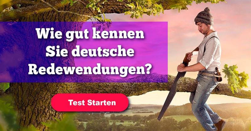Kultur Quiz-Test: Quiz: deutsche Redewendungen
