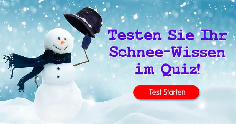 Natur Quiz-Test: Schnee-Quiz