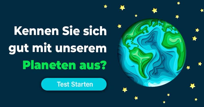 Wissenschaft Quiz-Test: Schräge Fakten über die Erde