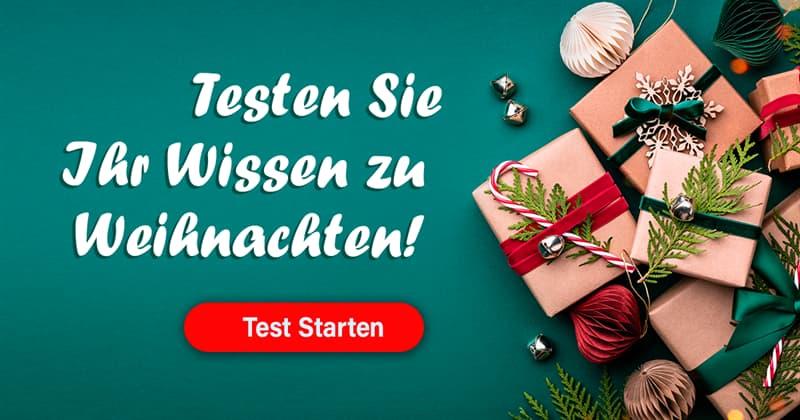 Kultur Quiz-Test: Weihnachten-Quiz