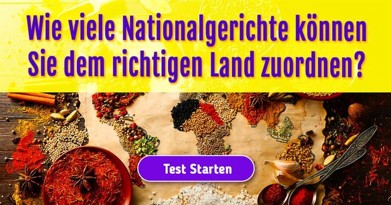 Kultur Quiz-Test: Aus welchem Teil der Welt stammen diese Speisen?