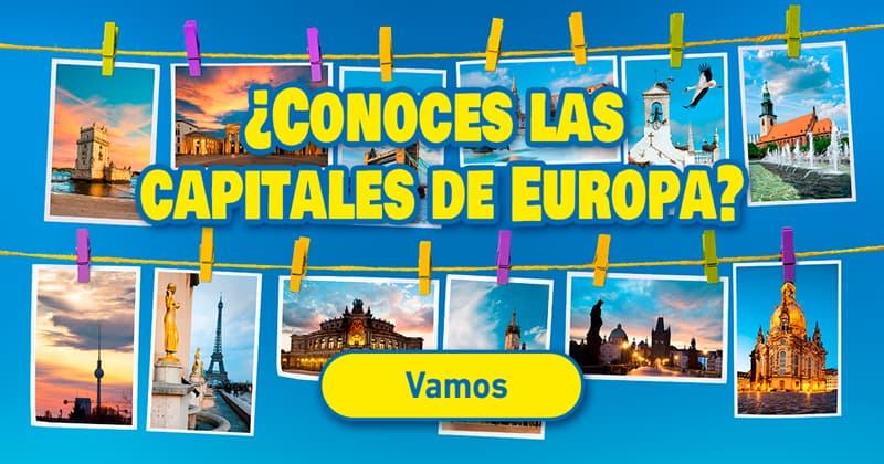 Geografía Quiz Test: ¿Conoces las capitales de Europa?