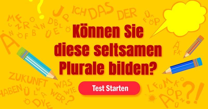 Sprache Quiz-Test: Pluralbildung-Quiz