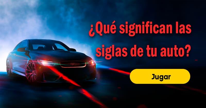 Sociedad Quiz Test: ¿Qué significan las siglas de tu auto?