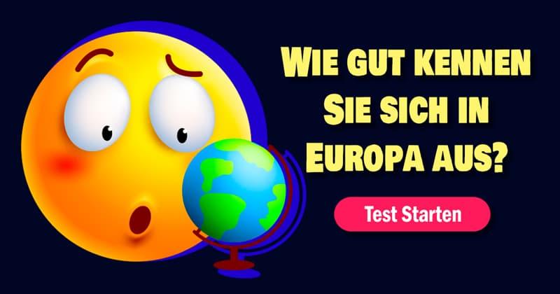 Geographie Quiz-Test: Stadt-Land-Fluss: Europa-Quiz