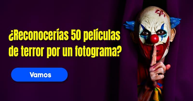 Películas Quiz Test: ¿Reconocerías 50 películas de terror por un fotograma?