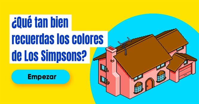 Películas Quiz Test: ¿Qué tan bien recuerdas los colores de Los Simpsons?