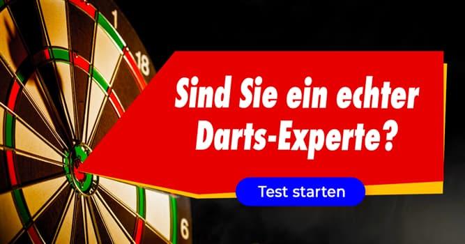 Gesellschaft Quiz-Test: Quiz: Darts