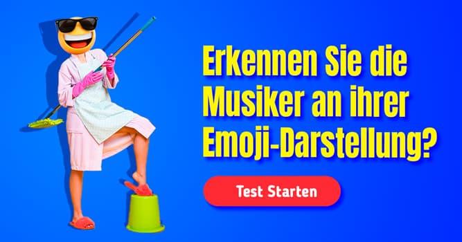Kultur Quiz-Test: Quiz: Emoji-Musiker
