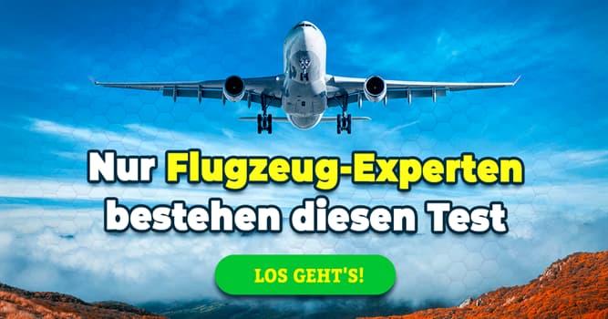 Gesellschaft Quiz-Test: Quiz: Fliegen und Flugzeug