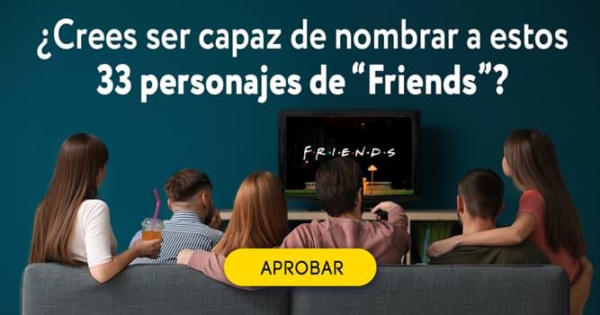 """Películas Quiz Test: ¿Crees ser capaz de nombrar a estos 33 personajes de """"Friends""""?"""