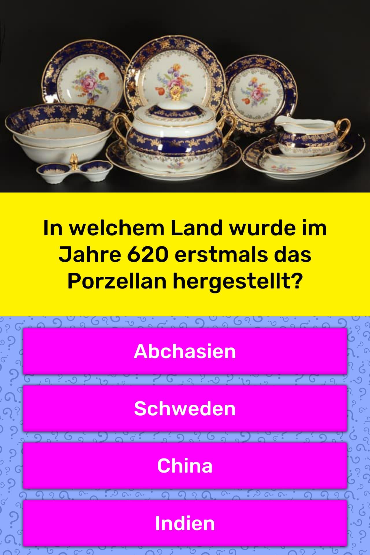 In welchem Land wurde im Jahre 620 | Quiz-Antworten