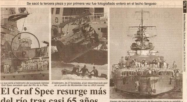 """Historia Pregunta Trivia: ¿Por quién fue hundido Acorazado de bolsillo alemán """"Admiral Graf Spee""""?"""