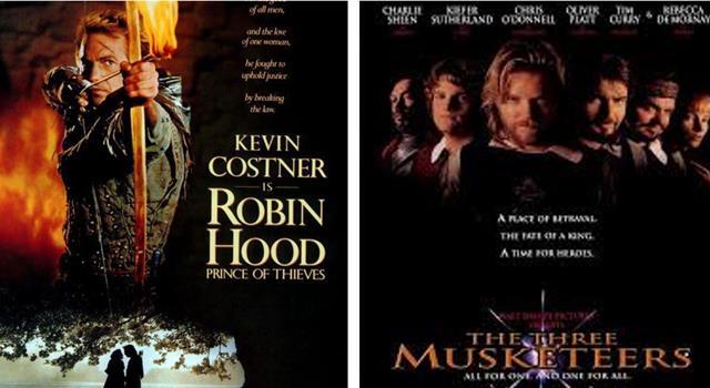 Películas Pregunta Trivia: ¿Qué cantante canadiense escribió las canciones principales de las películas Robin Hood y Los Tres Mosqueteros?