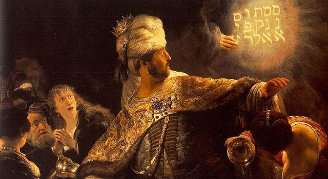 """Cultura Pregunta Trivia: ¿Qué significa el mensaje escrito sobre la pared en el cuadro de Rembrandt denominado """"El festín de Baltasar""""?"""