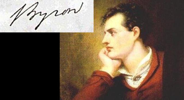 Kultura Pytanie-Ciekawostka: Jak miał na imię Lord Byron?