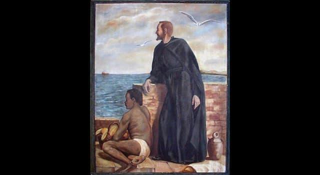"""Historia Pregunta Trivia: ¿Qué sacerdote y misionero fue conocido como """"esclavo de los negros"""" por su dedicación a paliar el sufrimiento de los esclavos en Cartagena de Indias?"""