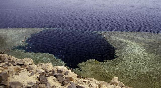 Naturaleza Pregunta Trivia: ¿Con qué otro nombre es conocido El Agujero Azul de Dahab?