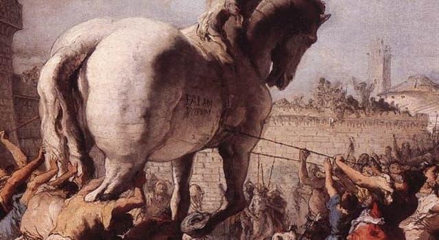 Geschichte Wissensfrage: Welche Stadt wurde mit Hilfe eines hölzernen Pferdes eingenommen und zerstört?