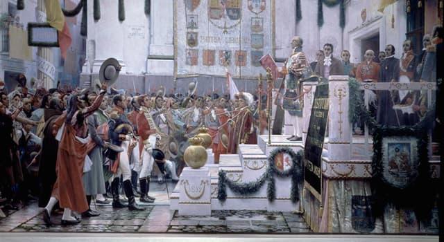Historia Pregunta Trivia: ¿Cómo se denomina la pintura que se muestra en la imagen?