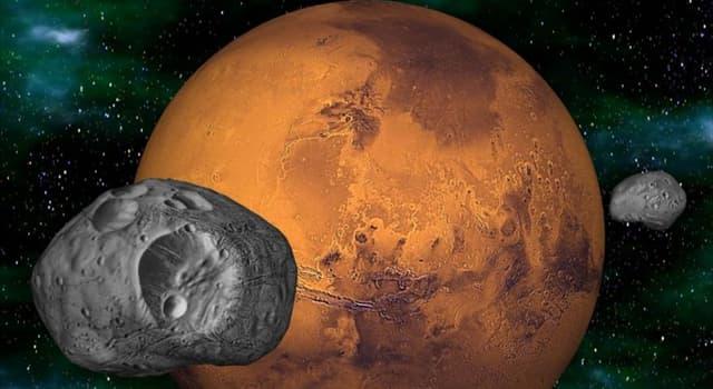 Сiencia Pregunta Trivia: ¿Cómo se llaman los dos satélites o lunas de Marte?