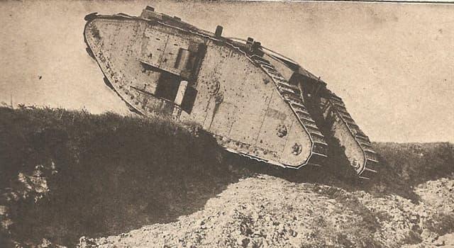 Historia Pregunta Trivia: ¿Cuál era el nombre del primer tanque de guerra utilizado en combate?