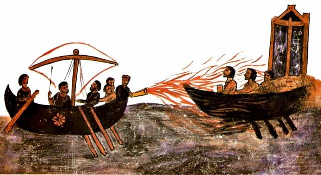 """Historia Pregunta Trivia: ¿Cuándo fue utilizado por primera vez el """"fuego griego""""?"""