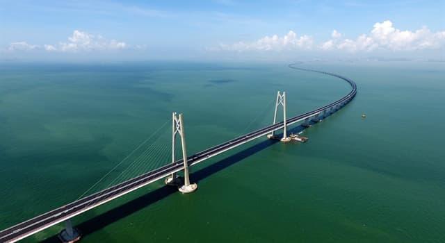 Geografía Pregunta Trivia: ¿Cuánto mide el puente sobre el mar más largo del mundo?