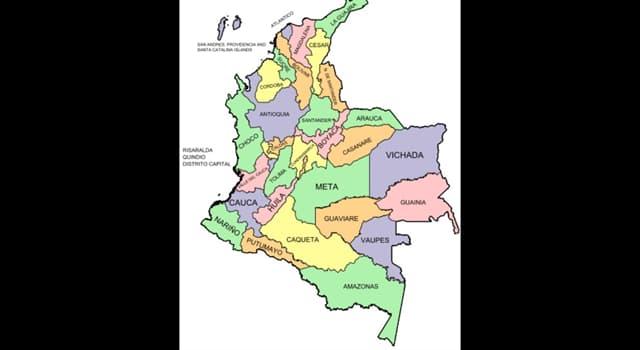 Geografía Pregunta Trivia: ¿Cuántos departamentos tiene la República de Colombia?