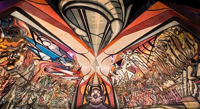 Cultura Pregunta Trivia: ¿Qué artista realizó el mural que se presenta en la imagen?