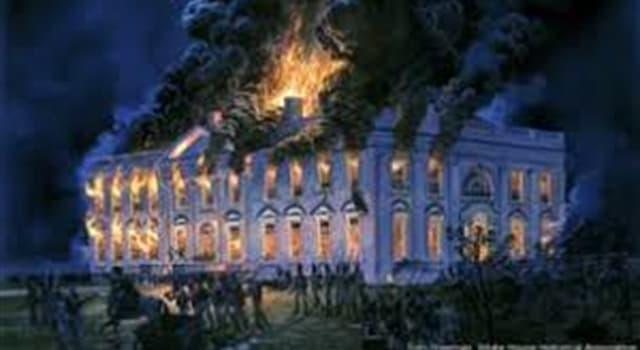 """Historia Pregunta Trivia: ¿Qué hecho se conoce como """"la quema de Washington""""?"""