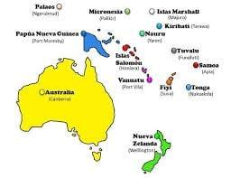 Geografía Pregunta Trivia: ¿Cuántos países conforman Oceanía?